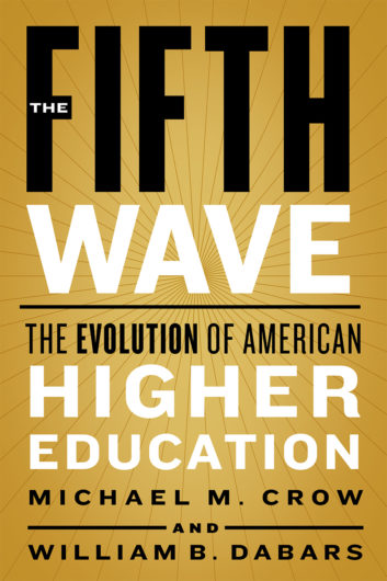 "Book cover of ""The Fifth Wave"" by Michael M. Crow and William B. Dabars"